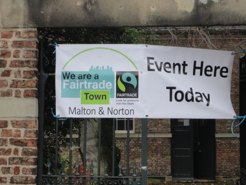 our brand new banner outside the Friends' Meeting House